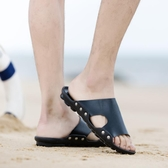 涼鞋男新品 新款 青年潮流 拖鞋兩用外穿涼拖時尚韓版休閒 沙灘鞋 聖誕裝飾8折
