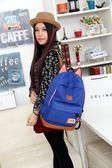可愛小貓耳朵帆布雙肩包男女韓版潮背包學生書包后背包限時促銷!