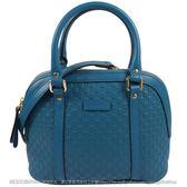 茱麗葉精品【全新現貨】GUCCI 449654 Micro GG牛皮壓紋迷你兩用包.藍綠