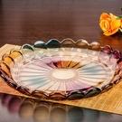 尺寸超過45公分請下宅配歐式大號琉璃水果盤客廳水晶玻璃水果托盤