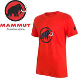【Mammut Logo T-Shirt 男《熔岩紅》】1041-07291-3038/ 排汗透氣/有機棉T/戶外機能服/登山休閒★滿額送
