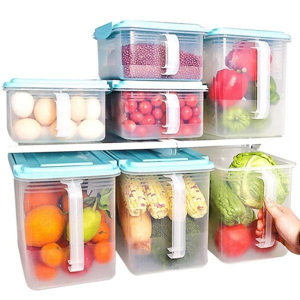 冰箱收納盒抽屜式冷凍整理盒儲物盒分類密封保鮮盒廚房塑料用盒子 智聯igo