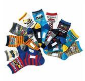 [韓風童品](3雙/組)出口日本工程車棉質男童襪 挖土機 工程車圖案中童襪 寶寶襪 兒童中筒襪子