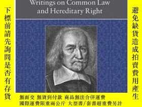 二手書博民逛書店Writings罕見On Common Law And Hereditary Right (clarendon E