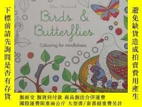 二手書博民逛書店平裝罕見Birds & Butterflies: Colouri