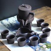 時來運轉半全自動功夫茶具套裝紫砂陶瓷家用懶人石磨泡茶創意防燙HM 3c優購