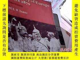 二手書博民逛書店A罕見History of Europe since 1870