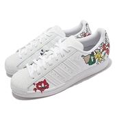 adidas 休閒鞋 Superstar 白 彩色 塗鴉 男鞋 愛迪達 三葉草 【ACS】 GW5782