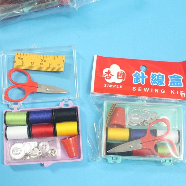 台灣製 杏圃小針線盒 (小透明壓克力盒)/一盒入{促35} 針線包組~秉C1VQ055