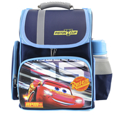 【Disney 迪士尼】Cars汽車總動員立體護脊書包 深藍色(迪士尼書包)