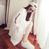 新款韓版百搭寬鬆bf學生夏季防曬衣女中長款外套薄款防曬服潮