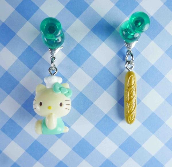 【震撼精品百貨】Hello Kitty 凱蒂貓~KITTY限定版吊飾拉扣-綠法國麵包
