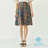 ❖ Must Buy ❖ 格紋配色及膝裙 - earth music&ecology