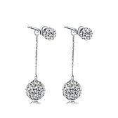 耳環 925純銀鑲鑽銀飾-閃耀迷人生日情人節禮物女飾品73dy184【時尚巴黎】
