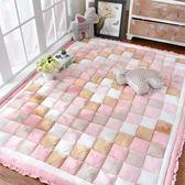 萬聖節快速出貨-韓式韓國加厚短毛絨家用地毯臥室滿鋪長方形床邊茶幾爬行墊