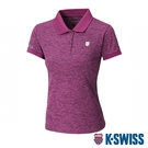 K-SWISS Small Neon Logo Polo排汗POLO衫-女-莓紅