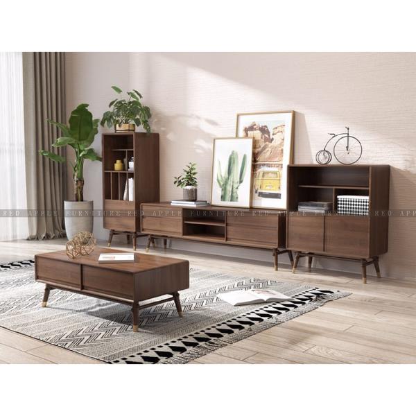 [紅蘋果傢俱]MSY-1808-1 沙發 茶几 電視櫃 書櫃 儲物凳 實木 簡約 現代 北歐風