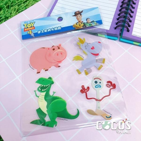 迪士尼 玩具總動員4 火腿豬 抱抱龍 叉奇 4入貼紙 透明貼 壁貼 玻璃貼 防水機車貼 COCOS TM030