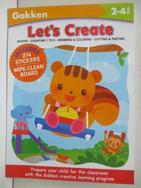 【書寶二手書T1/少年童書_DS6】Let's Create! 2-4 Yrs: Shapes - Counting 1 to 5…