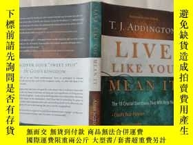 二手書博民逛書店LIVE罕見LIKE YOU MEAN ITY4485
