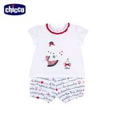 chicco-經典海洋-Girl 短袖套裝