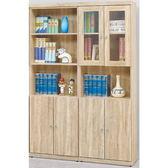 書櫃 書櫥 CV-629-23 安寶耐磨橡木4尺書櫃【大眾家居舘】