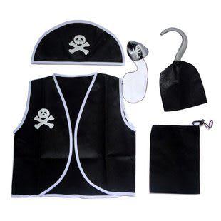 萬聖節服裝 兒童海盜衣服5件套