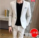 西裝外套 西服套裝春秋季韓版修身時尚2020新款外套休閒痞帥男小西裝三件套 3C優購