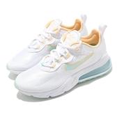 Nike 休閒鞋 Wmns Air Max 270 React 白 藍 橘 女鞋 氣墊 【ACS】 DJ3027-100