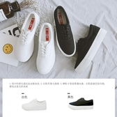 人本內增高小白鞋女2020春款布鞋學生韓版厚底板鞋百搭白色帆布鞋 凱斯盾