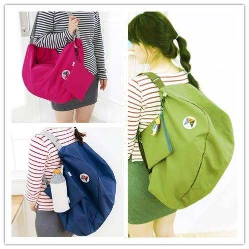 【01221】 韓版大容量多功能摺疊旅行包 可變換單肩 雙肩背包 收納袋