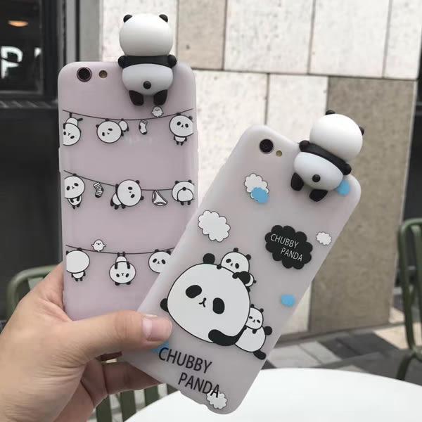 送掛繩 OPPO R9s R9s Plus R9 Plus 熊貓屁股 手機殼 軟殼 可愛 矽膠殼 手機軟殼 保護殼