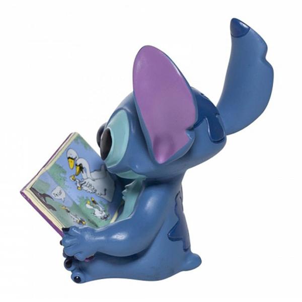 Enesco Disney 迪士尼 史迪奇看書塑像_EN25009