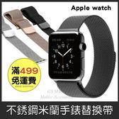 GS.Shop Apple Watch S1/S2/S3 LTE 38mm/42mm 米蘭錶帶 不鏽鋼 替換帶 磁性吸附