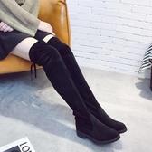 長靴同款時尚百搭潮彈力靴女夏季新款厚底防滑舒適瘦瘦靴