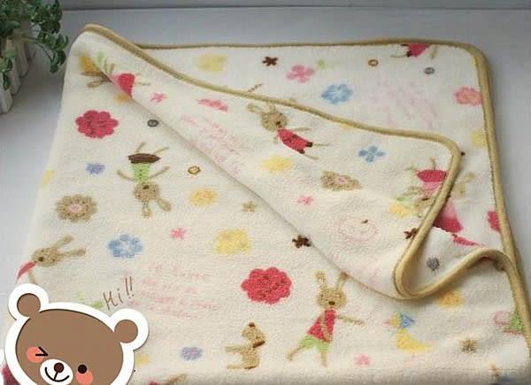 【發現。好貨】Le Sucre法國兔砂糖兔花草空調毯子   珊瑚絨100*150cm