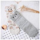 Catworld 立體耳朵花紋動物棉質對襪組【18900255】‧F*特價