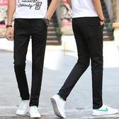 長褲  亞麻男裝彈力夏季薄款冰絲休閒褲寬鬆商務男士修身直筒長褲 子 艾莎嚴選