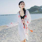 防曬開衫比基尼罩衫外套外搭蕾絲鏤空海邊沙灘度假裙女消費滿一千現折一百