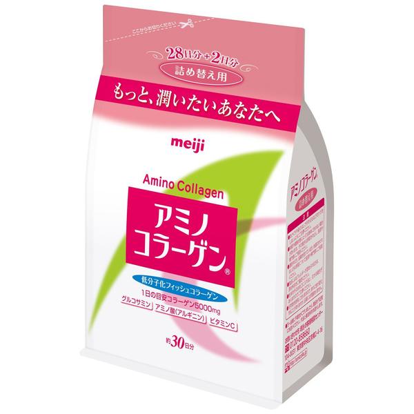 Meiji 日本明治 日本熱銷NO.1 膠原蛋白粉補充包袋裝214g PG美妝