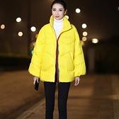 羽絨夾克-白鴨絨-立領短款寬鬆加厚女外套4色73zc17【時尚巴黎】