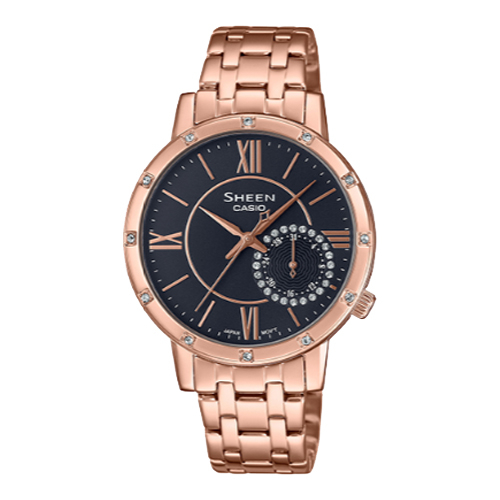 CASIO 卡西歐 手錶專賣店 SHEEN SHE-3046PG-8A 優雅氣質指針女錶 施華洛世奇水晶 SHE-3046PG