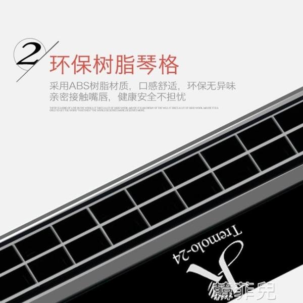 口琴 口琴初學者成人兒童學生入門單復音C調24孔嘉德瑞專業演奏級樂器 韓菲兒
