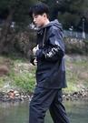 一整套塑料分體雨衣男女加厚