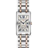 LONGINES浪琴 多情系列18K玫瑰金小秒針石英錶-雙色版/26mm L57555717