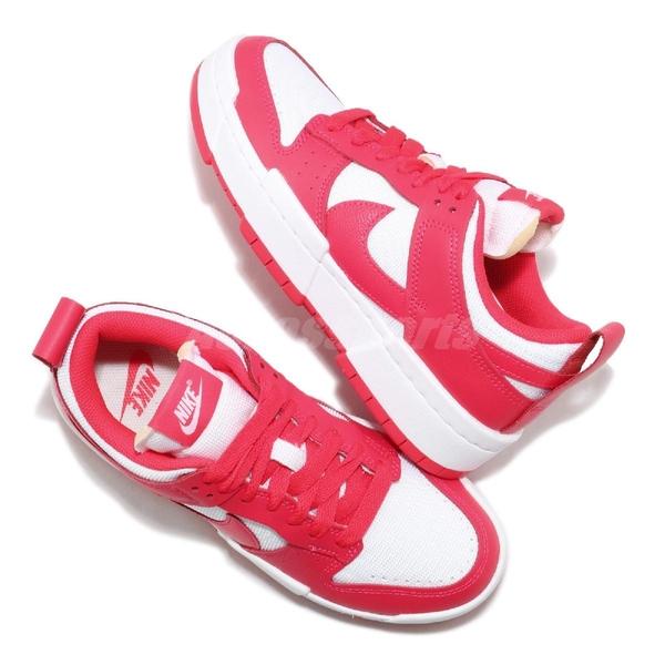 Nike 休閒鞋 Wmns Dunk Low Disrupt 白 紅 女鞋 解構 厚底 運動鞋 【ACS】 CK6654-601