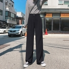 西裝褲 闊腿褲女高腰垂感年秋裝新款韓版超火cec直筒寬松拖地西裝褲