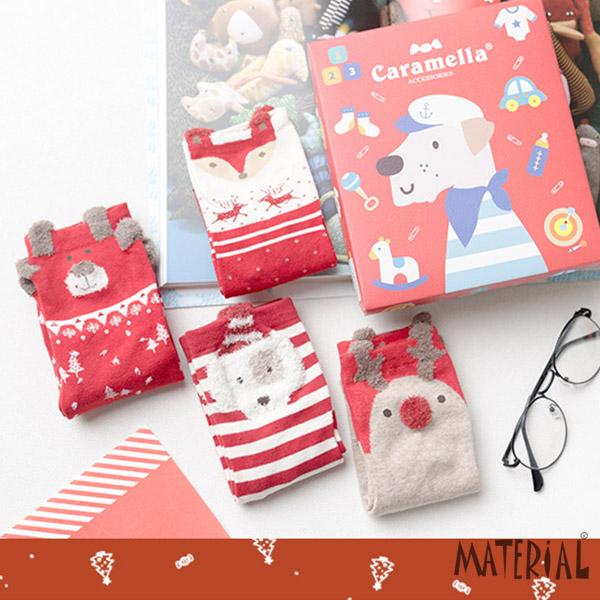 襪子 可愛動物盒裝(4雙一組) MA女鞋 K2022