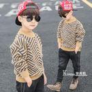 男童毛衣套頭秋冬款新款兒童水貂絨韓版中大童洋氣加絨加厚潮 Korea時尚記