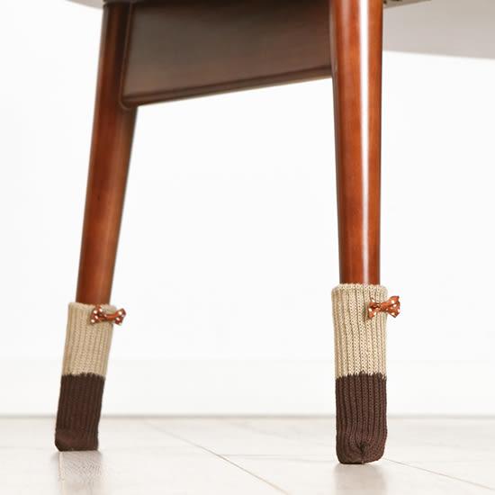 ✭米菈生活館✭【Y52】針織桌椅腳套(4入) 實木地板 保護墊 椅腳套 靜音 防刮傷地板